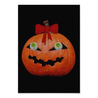 Creepy Halloween Jack O' Lantern 3.5x5 Paper Invitation Card