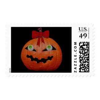 Creepy Halloween Jack O Lantern Postage Stamps