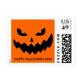 Creepy Halloween Jack O' Lantern Postage Stamp