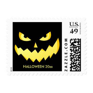 Creepy Halloween Jack O' Lantern Stamp