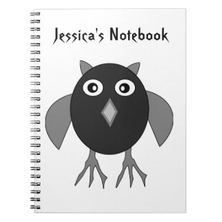 Creepy Halloween Owl Customizable N Journal