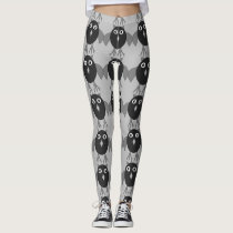 Creepy Halloween Owl Leggings