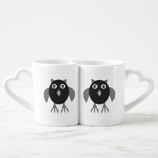 Creepy Halloween Owl Lovers Mugs Couples' Coffee Mug Set