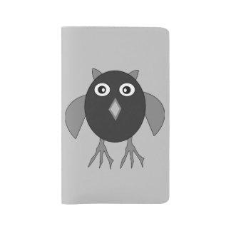 Creepy Halloween Owl Notebook Cover