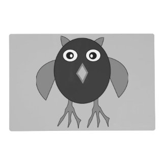 Creepy Halloween Owl Personalized Placemat