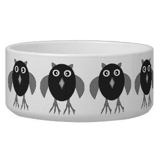 Creepy Halloween Owl Pet Bowl