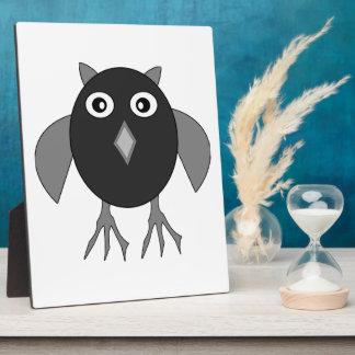 Creepy Halloween Owl Plaque