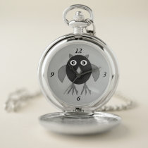 Creepy Halloween Owl Pocket Watch