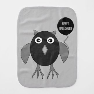 Creepy Halloween Party Owl Burp Cloth