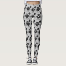 Creepy Halloween Party Owl Leggings