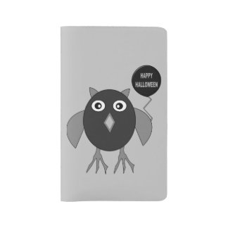 Creepy Halloween Party Owl Notebook Cover