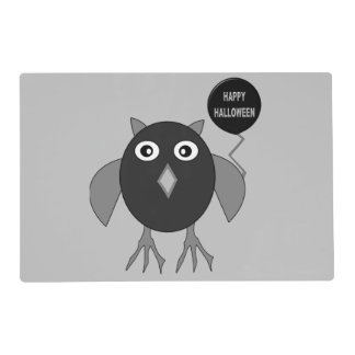 Creepy Halloween Party Owl Personalized Placemat