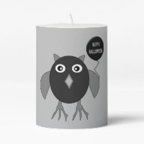 Creepy Halloween Party Owl Pillar Candle