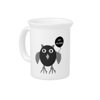 Creepy Halloween Party Owl Pitcher