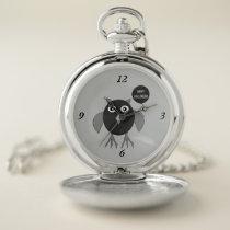 Creepy Halloween Party Owl Pocket Watch