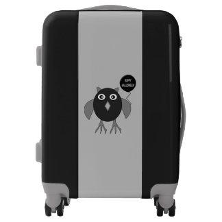 Creepy Halloween Party Owl Suitcase Luggage