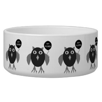 Creepy Halloween PartyOwl Pet Bowl