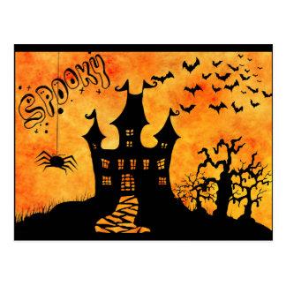 creepy Halloween Postcard