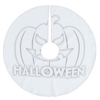Creepy Halloween pumpkin Brushed Polyester Tree Skirt