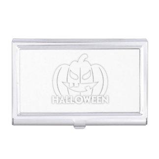 Creepy Halloween pumpkin Business Card Case