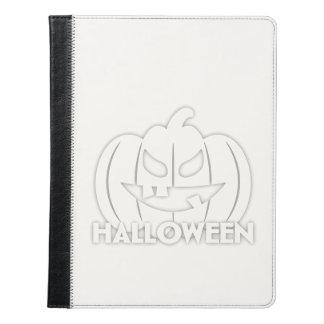 Creepy Halloween pumpkin iPad Case