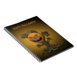 Creepy Halloween Pumpkin Tree - Notebook