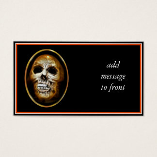 Creepy Halloween Skull Business Card