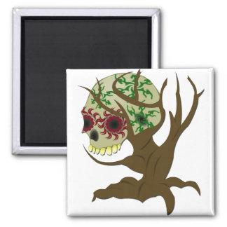 Creepy Halloween Skull Magnet