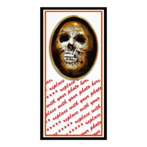 Creepy Halloween Skull Personalized Photo Card