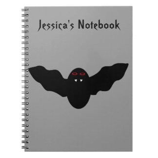 Creepy Halloween Vampire Bat Customizable Notebook
