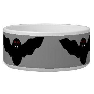 Creepy Halloween Vampire Bat Dog Bowl