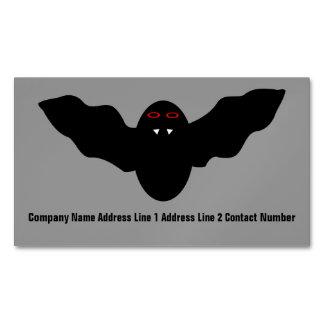 Creepy Halloween Vampire Bat Personalized Business Card Magnet
