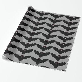 Creepy Halloween Vampire Bat Wrapping Paper