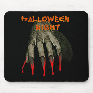 Creepy hand hallowen night mouse pad