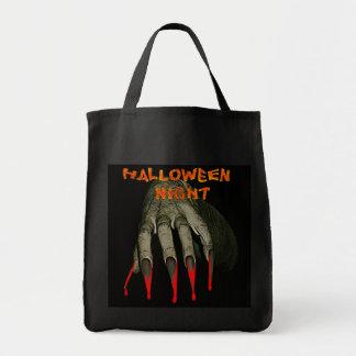 Creepy hand hallowen night tote bag
