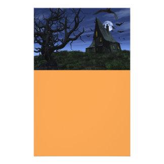 Creepy haunted house flyer