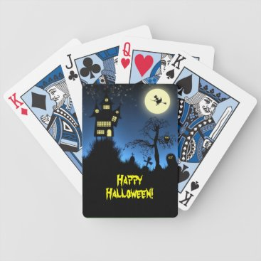 Halloween Themed Creepy Haunted House Halloween Bicycle Playing Cards