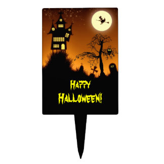 Creepy Haunted House Halloween Decorative Cake Toppers