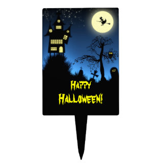 Creepy Haunted House Halloween Decorative Cake Picks