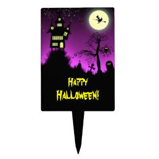 Creepy Haunted House Halloween Decorative Cake Pick