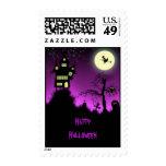 Creepy Haunted House Halloween Stamps