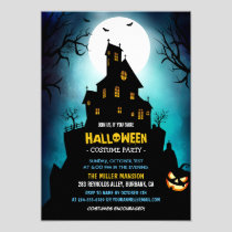 Creepy Haunted House Scary Halloween Party Invitation