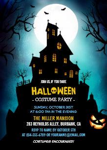 haunted house invitations zazzle