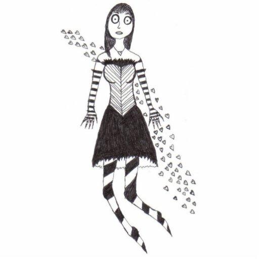 creepy heart girl acrylic cut out