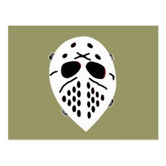 Creepy Hockey Mask Products Postcard