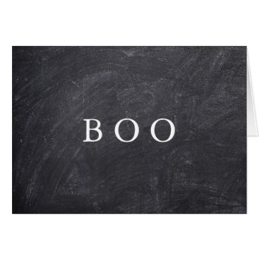 Valentines Themed Creepy Hollow Halloween Chalkboard Boo Card