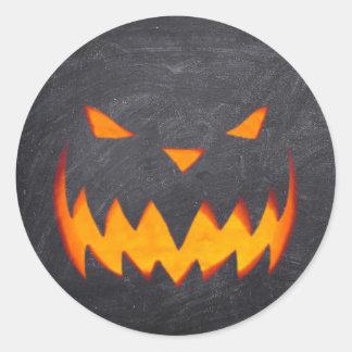 Creepy Hollow Halloween Jack o'Lantern Stickers Round Sticker