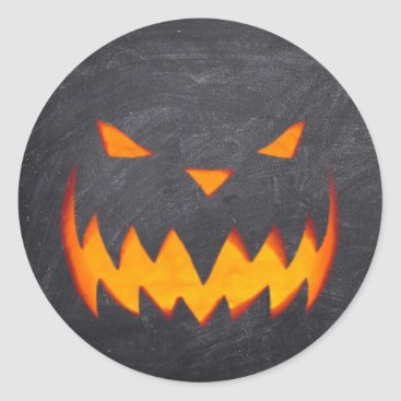 Beach Themed Creepy Hollow Halloween Jack o'Lantern Stickers