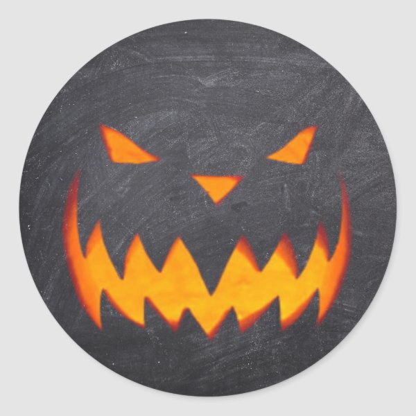 Creepy Hollow Halloween Jack o'Lantern Stickers