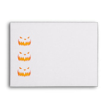 Beach Themed Creepy Hollow Halloween Party Scary Jack Envelopes